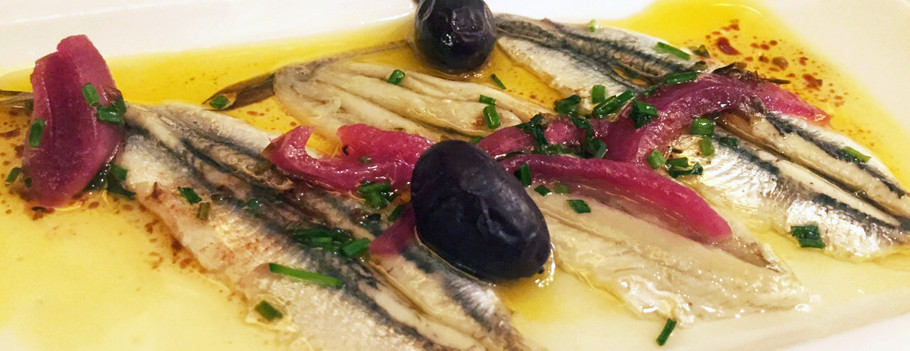 Pickled anchovies
